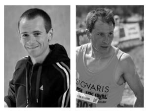 Julien Rancon, team Adidas (à gauche) et Nicolas Martin, team Sigvaris (à droite), tous deux licenciés à l'Entente Athlétique Grenoble 38