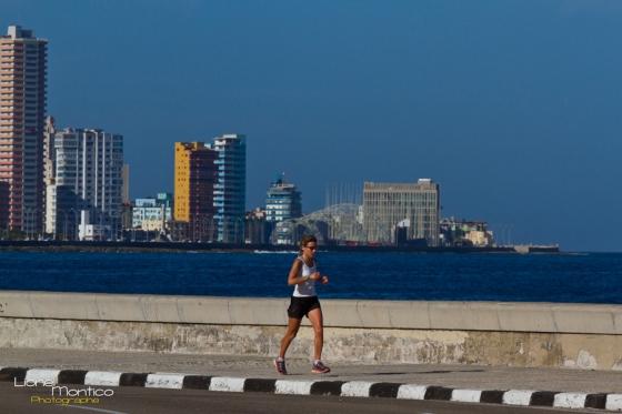 Footing de 45' sur le front de mer de La Havane où les joggers sont cent fois plus rares que les pêcheurs amateurs !